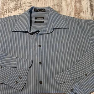Blue striped Claiborne long sleeve button 16